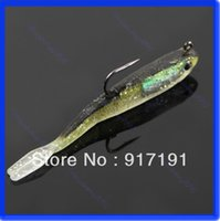 Wholesale Sinking Lures - Free Shipping 3pcs lot 70mm 6g Sinking Fishing Lures Lead Jig Head Fish Bait Tackle Hook order<$18no track