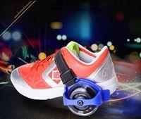 tekerlekli paten ayakkabıları toptan satış-Çocuk Scooter Çocuklar Sporting Kasnak Işıklı Yanıp Sönen Tekerlekler Tekerlekler Topuk Paten Silindirleri Paten Tekerlekleri Ayakkabı Paten Rulo c197