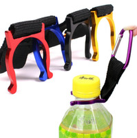 Wholesale water bottle holder for camping resale online - Aluminium Alloy Hanging Buckle D Type Removable Water Bottle Carabiner Colorful High Strength Holder Clip For Outdoor Camping sr B
