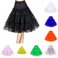 Wholesale Cheap Black Underwear For Women - Cheap Girls Women A Line Short Crinoline Petticoats Free Shipping Black Ivory For Short Party Dresses & Wedding Dresses Underwear ZS019