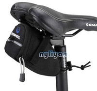 Wholesale Bike Back Seat Bag Pannier - Free shipping Cycling Bicycle Bike Saddle Outdoor Pouch Back Seat Bag Black quick realease