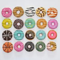 alimento do refrigerador do ímã venda por atacado-Donuts Donut forma Imã Simulação de Cozinha Frigorífico Magnetic Adesivos Atacado