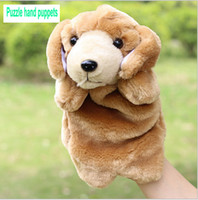Wholesale Large Doll Hands - The new children's plush toy Large plush hand puppet toy puppy Dalmatians paternity early education of children finger dolls