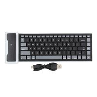 Wholesale Usb Wireless Silicone Keyboards - 1Pc Wireless Flexiable Bluetooth Silicone Roll up Keyboard Brand New