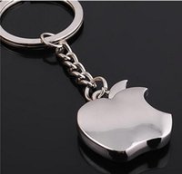 Wholesale Wholesale Metal Trinket - Fashion new Zinc Alloy Novelty Souvenir Metal Apple Key Chain Creative Gifts Apple Keychain Key Ring Trinket Wholesale gifts