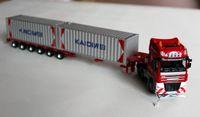 transportista de camiones al por mayor-Juguete de modelo de camión de aleación de tamaño súper grande, contenedor, bricolaje, vehículo de transporte plano, vehículo de simulación de precisión, regalo, recolección, envío gratis