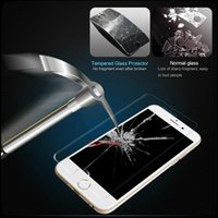 Wholesale Edge Protectors For Shipping - 1PCS Free Ship For Iphone 6S plus Iphone 6 plus 5 Tempered Glass Screen Protector Film Galaxy S6 Edge 0.26mm Treated Glass for S5 Retail box