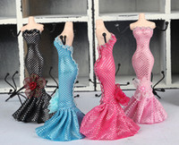 Wholesale Necklace Mannequins - Mannequin Jewelry Rack Earrings Necklace Organizer Holder Elegant Lady Great Gift Manikin Casting Fashion Jewellery Display Stand