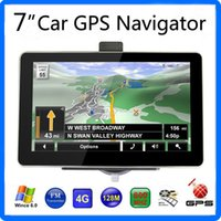 Wholesale United States Books - 7 inch Car GPS Navigator HD 800*480 Screen FM Transmitter 22 Tracking 66 Acquisition WinCE6.0 4GB IGO Primo Maps
