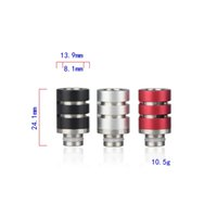 Wholesale vaporizer wide bore rda for sale - Group buy Best Drip Tips Adjustable Airflow Drip Tip SS with Aluminum Wide Bore Drip Tip for EGO Atomizer RDA Mechanical mods Vaporizer