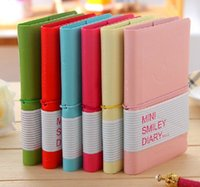 Wholesale Smiley Diary - Free shipping 50pcs New Cute Smiley Diary Sweet Candy Notebook Memo Notepads Fashion Kids Gifts 1203#03