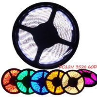 Wholesale Orange Led Flexible Strip Waterproof - Free shipping 5M Roll SMD 3528 Waterproof 60LEDs M 300 LEDs Warm Cool White Red Green Blue Yellow RGB Flexible LED Strip Light ip65 strip