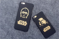 Compra Caso Darth Vader Iphone-Star Wars 7 per iPhone6s più iPhone 6S Darth Vader R2D2 C3P0 Star Wars Telefono cassa in oro Carattere glassa PC Hard Back Cases copertura MM051A