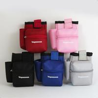 Wholesale E Cig Carry Bag - E cigarette Vapor Pocket E Cig Case Double Deck Vapor bag vape mod carrying case for Sigelei IPV Smok Cloupor Box Mod free shipping