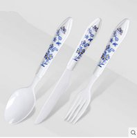 Wholesale Only Knife - China Wind Blue and White Porcelain Knife Fork and Spoon Three Pieces Set Only in MESHARE