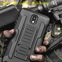 Wholesale Iphone Hard Silicone - For Samsung Galaxy S5 S6 s7 edge S8 Plus NOTE 4 5 iphone 7 plus Armor Impact Hybrid Hard 7plus Case with Kickstand