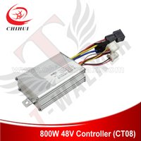 Wholesale Electric Scooter Dc Motor - Wholesale-High Quality 800W 48V DC Brush Motor Controller with 4 Plugins (Combined Plug) for Foldable 800W Electric Scooter+Free Shipping