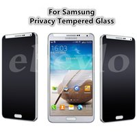 Wholesale Privacy Screen Protector Galaxy - Privacy Tempered Glass Iphone 7 7 plus 6s Plus Samsung Galaxy S6 S5Note 5 Screen Protector Anti-Spy