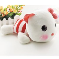 Wholesale Cute Korean Babies - Cute korean style soft plush pillow toys stuffed animal cats small big dolls with lovely rosy cheek baby girls new year gift