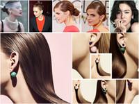 Wholesale bead plug free for sale - Group buy 10pieces Pairs Celebrity Runway Double Pearl Beads Plug Earrings Ear Studs Pin nickel free