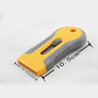 Wholesale Wholesale Razors For Sale - Free shipping vinyl tool Yellow Mini Razor Scraper spatula Scraper with razor blade for gule removing MX-89 whole sale