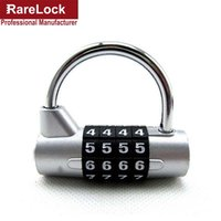 Wholesale Door Security - Wholesale- Rarelock 4 Digit Combination Travel Bag Luggage Suitcase Security Safe Lock Padlock Code Door Bicycle Locks a