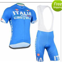 01666e7c5 2015 New Italia cycling jerseys blue color short sleeves cycling jersey bib  none set breathable padded bike clothing size XS-4XL bike wear ...