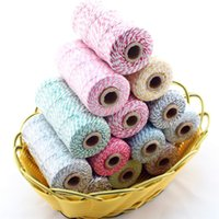 Wholesale Colored Bakers Twine Wholesale - Free Shipping 200pcs Gift Packing Cotton Bakers Twine DIY Decorative Handmade Accessory Colored Twine Rope String