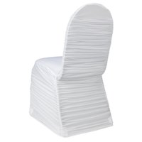 spandex polyester ruffled chair covers cheap lycra ruffled chair cover per