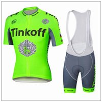 barato THINKOFF Jersey de ciclismo Jersey com manga curta com calças acolchoadas e frescas Fluo Green Cycling Jerseys Top Class Lycra Bike Wear Anti