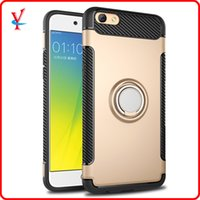 Wholesale Oppo Cell - For oppo r9s cell phone case magnetic suction mobile phone shell r9s plus 360 degree invisible support ring armor protective sleeve