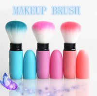 1 painting red hair - 2015 Make up telescopic rod loose paint Blush three colors Powder Blush Brush Brush high quality