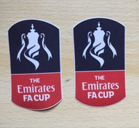 Wholesale Fa Shipping - One Pairs Lextra 2016 2017 2018 Premier League Fa Cup Patch Soccer Badge Heat Transfer Free Shipping