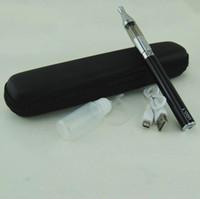 passthrough usb para cigarro eletrônico venda por atacado-Ecig eGo UGO-T USB Passthrough bateria starter kit Cigarros Eletrônicos ugo T V Com Mini protank tanque Vaporizador Vape canetas zipper caso kits