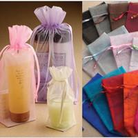 "Wholesale Good Quality Organza Bags - Organza Drawstring Gift Bag 12cmX17cm (4.75""x6.5"") Good Quality Various Color Can print logo Fashion Jewelry Pouches cheap Wedding Favor"