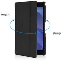 Wholesale Xperia Tablet Leather Cover - Ultra Slim Lightweight Smart Leather Cover Case for Sony Xperia Z3 Tablet Compact SGP621, With Smart Cover Auto Wake   Sleep