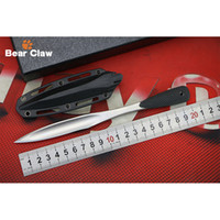 Wholesale Hunting Swords - 2017 New Product 53JD 420 Steel Blade Silicone Handle Fixed Edge Craft Tea Sword Outdoor Hunting Camping Training Survival EDC Tools
