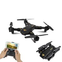 Wholesale Hot Rc - Original Visuo XS809HW RC Drone Mini Foldable Selfie Drone with Wifi FPV REAL TIME 0.3MP HD Camera Altitude Hold Quadcopter Hot Xmas Gift
