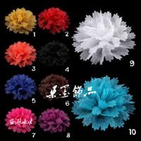 """Wholesale Crochet Unique Fashion - Unique Golden stripes Crochet Fabric Flower For Decoration Fashion Girls Flower Accessories 3.7"""" 10 Colors IN STOCK"""