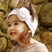 Wholesale Newborn Shopping - 2018 Newborn Kids Girls Knotted Headbands Babies Fashion Cotton Hairbands Toddler Stretchy Hair Accessories free shopping