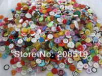 Wholesale Cheap Crafting Buttons - Resin Buttons Mix 100pcs DIY Craft Button Assorted children clothes buttons colorful M63296 Buttons Cheap Buttons