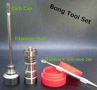clous en titane achat en gros de-Bong Tool Set Carb Cap T-002 14mm 18mm Dôme de clou en titane Gr2 sans dom Gr2 pour les canalisations d'huile Verre Bong Fumeurs