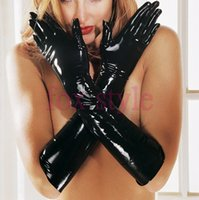 Wholesale Long Gloves Fetish - Wholesale-latex fetish long glove rubber moulded latex glove M size only