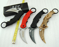 Wholesale Karambit Tactical Knives - 16 models best karambit FOX claw knife folding training hunting knife outdoor survival knife xmas gift for man 1pcs