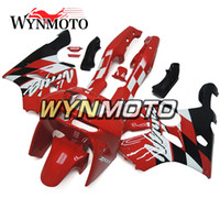 verkleidung zx6r 95 rot großhandel-Rot Schwarz Komplette Verkleidungen für Kawasaki ZX-6R ZX6R 1994 - 1997 94 95 96 97 Kunststoff Motorrad Verkleidungssatz ABS Body Kit Panels