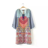 Wholesale Print Locations - Wholesale-2015 women summer print dress and Location printing Streamer short shirt casual dress