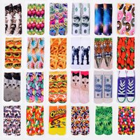 Wholesale Topshop Wholesales - topshop 3d Digital printing socks Animal and Food Series Unisex Socks Beautifully design soft comfortable Cartoon Socks 2015 HOT [SKU:A562]