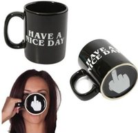 Wholesale Novelty Mug Gift - Creative Have a Nice Day Coffee Mug Middle Finger Funny Cup for Coffee Milk Tea Cups Novelty Gifts Office Tea Mug KKA3261