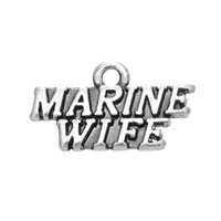 Wholesale Marine Wife - Free shipping New Fashion Easy to diy 20Pcs Stylish Alphabet Marine Wife Charm DIY Charms For Bracelets jewelry making fit for necklace or b