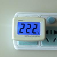 medidor de panel de pantalla lcd al por mayor-Nuevo Eu Plug Ac80-300v Voltímetro digital Volt Tester Monitor de energía Pantalla LCD Medidor de panel de corriente alterna para hogar Conector de interruptor de conexión